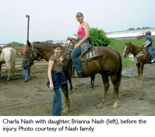 Charla Nash with duaghter, Brianna Nash (left) before the injury.  Photo courtesy of Nash family. Photo: Contributed / Connecticut Post Contributed