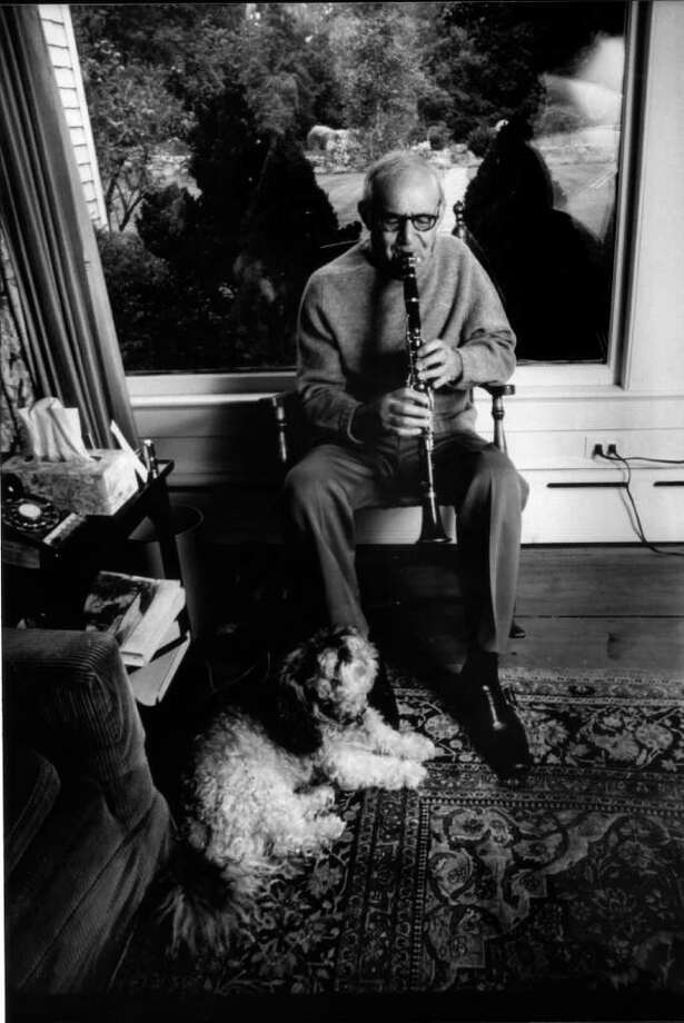 1984: Benny Goodman, who died 25 years ago this week, play the clarinet in his North Stamford home. Photo: File Photo / Stamford Advocate File Photo