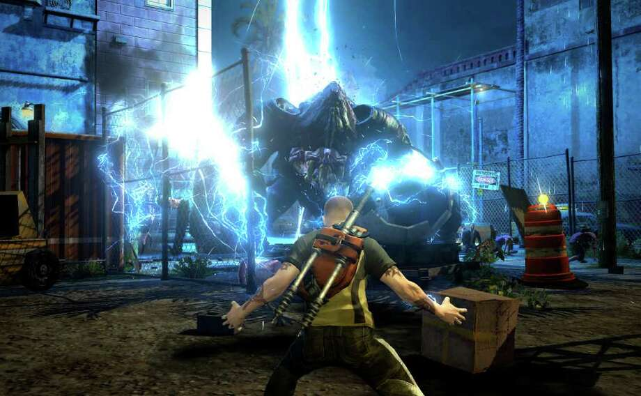 """In this video game image released by Sony Computer Entertainment, a scene is shown from """"inFamous 2."""" (AP Photo/Sony Computer Entertainment) Photo: HONS / Sony Computer Entertainment"""
