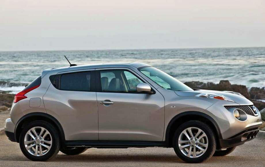 The Juke, Nissan's new compact sport crossover vehicle, seats five and comes with a turbocharged four-cylinder engine and lots of curb appeal, which is a plus for young drivers. COURTESY OF NISSAN NORTH AMERICA INC. Photo: Nissan North America, COURTESY OF NISSAN NORTH AMERICA INC.