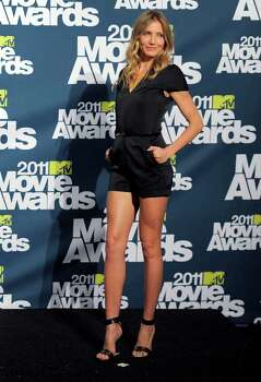 Cameron Diaz is seen backstage at the MTV Movie Awards on Sunday, June 5, 2011, in Los Angeles. (AP Photo/Chris Pizzello) Photo: Chris Pizzello, STF / AP