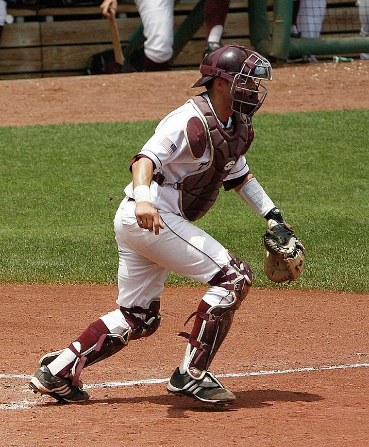 Catcher Kevin Gonzalez is the last starter left from A&M's last super regionals trip three years ago. The Aggies last made the College World Series in 1999.  ALONZO ADAMS/ASSOCIATED PRESS