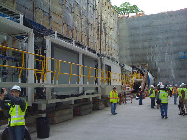 The tunnel boring machine at Capitol Hill is 330 feet long. Photo: Scott Gutierrez/seattlepi.com