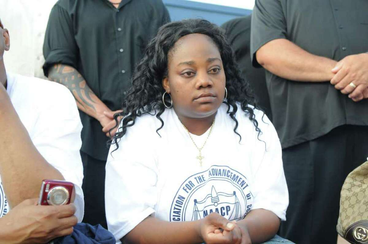 Tanya McDowell during the NAACP