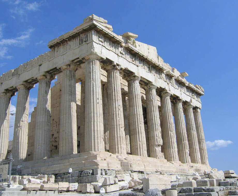 The Parthenon beckons visitors. When visiting Greece, don't wave at Greeks. Showing the palm is considered an obscene gesture in Greece. EXPRESS-NEWS FILE PHOTO