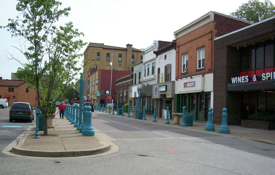 Downtown Carnegie is small, quaint and quiet on a spring day. The town, just 20 minutes from Pittsburgh, was built from funding from Andrew Carnegie. CHANTAY WARREN / EXPRESS-NEWS