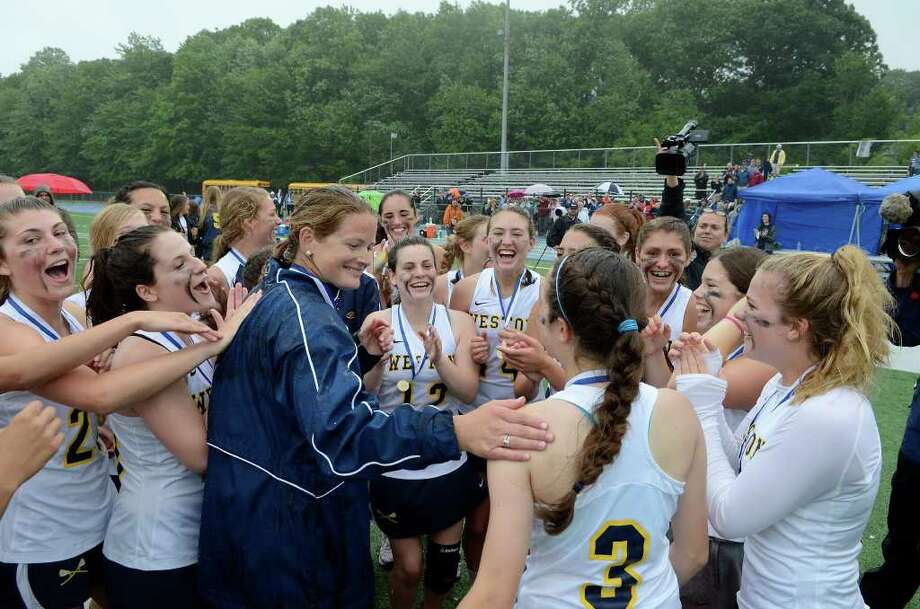 Weston High School wins the Class S girls lacrosse championship versus Granby Memorial High School at Bunnell High School in Stratford, CT on Saturday June 11, 2011. Photo: Shelley Cryan / Shelley Cryan freelance; Connecticut Post freelance
