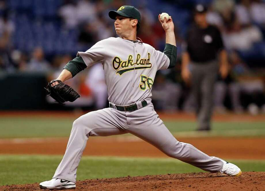 Pitcher Craig Breslow of the Oakland Athletics will appear at a charity event for the Stamford-based Stewardship Foundation at Citifield June 21. (Photo J. Meric Getty Images) Photo: J. Meric, ST / 2010 Getty Images