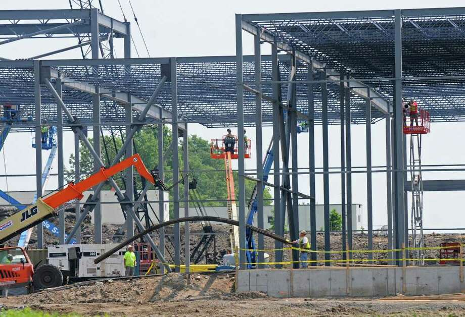View of new construction at the FAGE USA Dairy Industry plant in the Johnstown Industrial Park,  on Wednesday June 8, 2011 in Johnstown, NY. ( Philip Kamrass / Times Union) Photo: Philip Kamrass