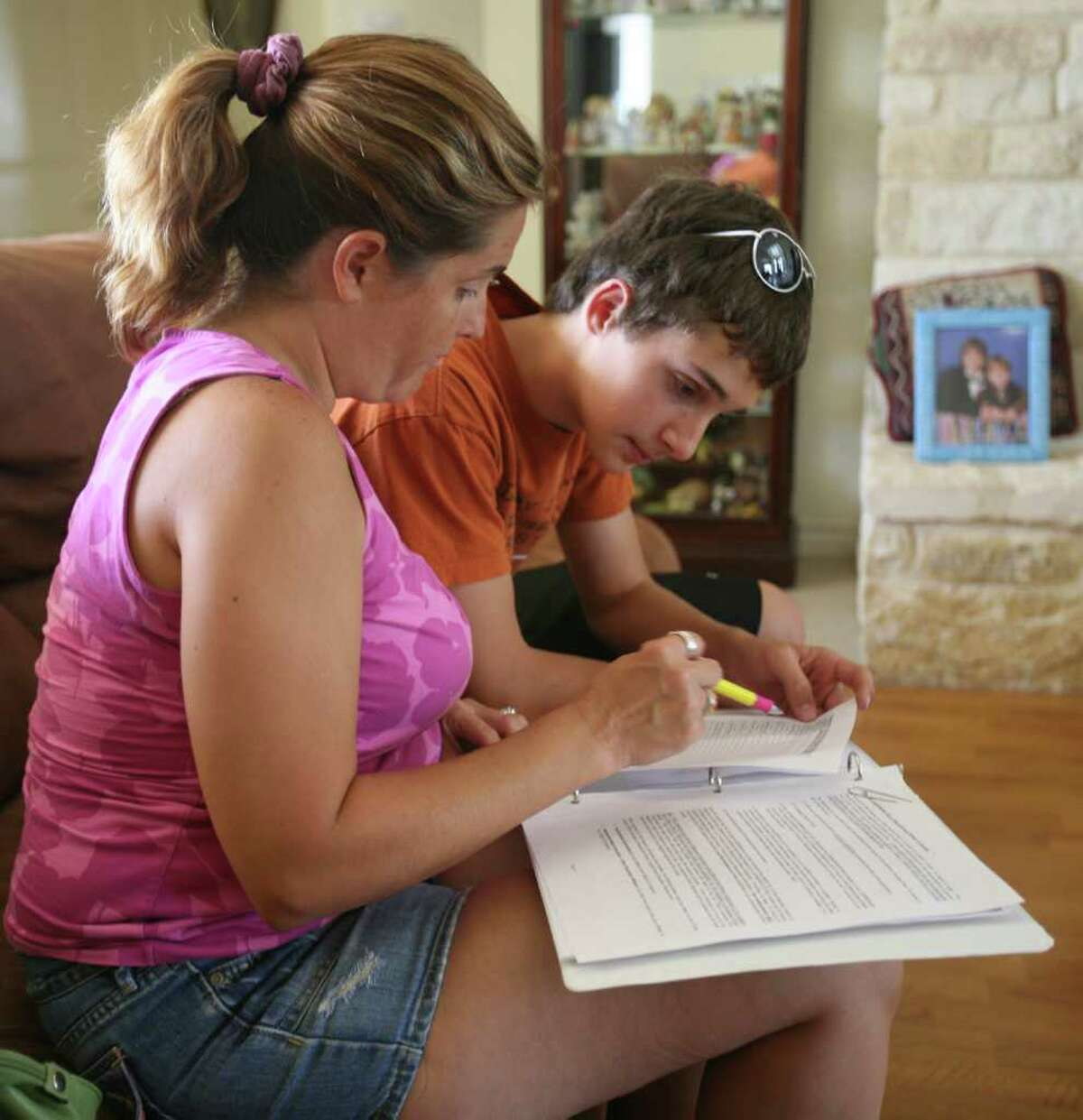 Alexander Regets,15, is shown going over driving instructions after he finished driving practice with his mother. He recently received his learner's permit at a tme where Summer is considered the a deadly time for teenager drivers. . Monday, June 6, 2011. OMAR PEREZ/operez@express-news.net