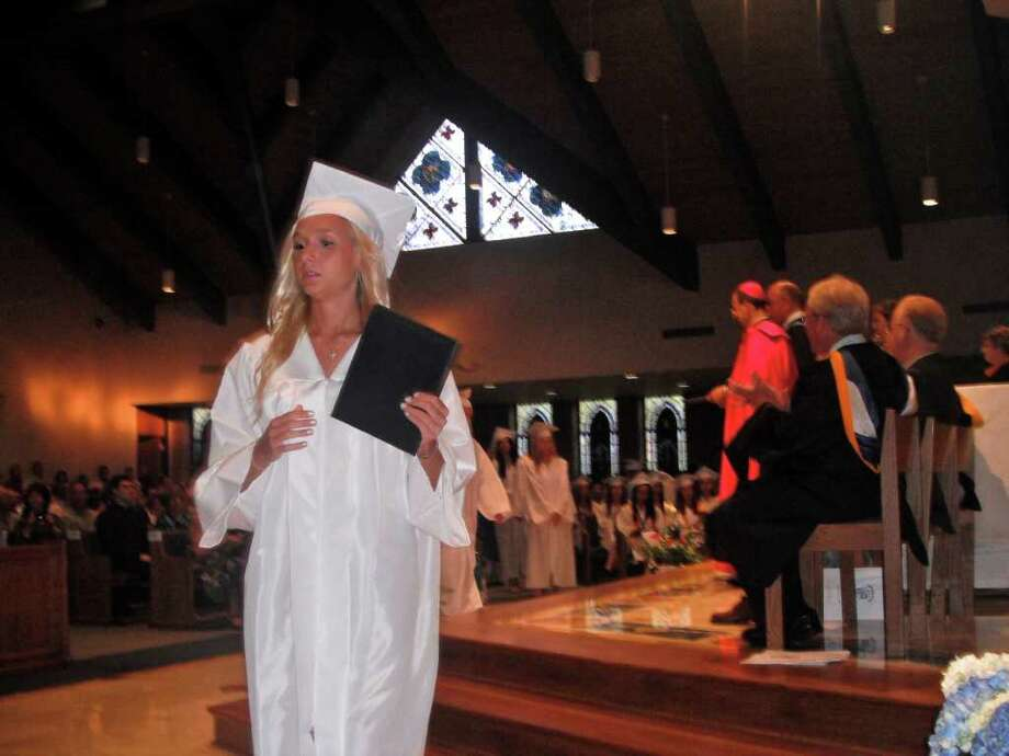 Immaculate Graduation Photo: Cristi Parks / Hearst Connecticut Media Group