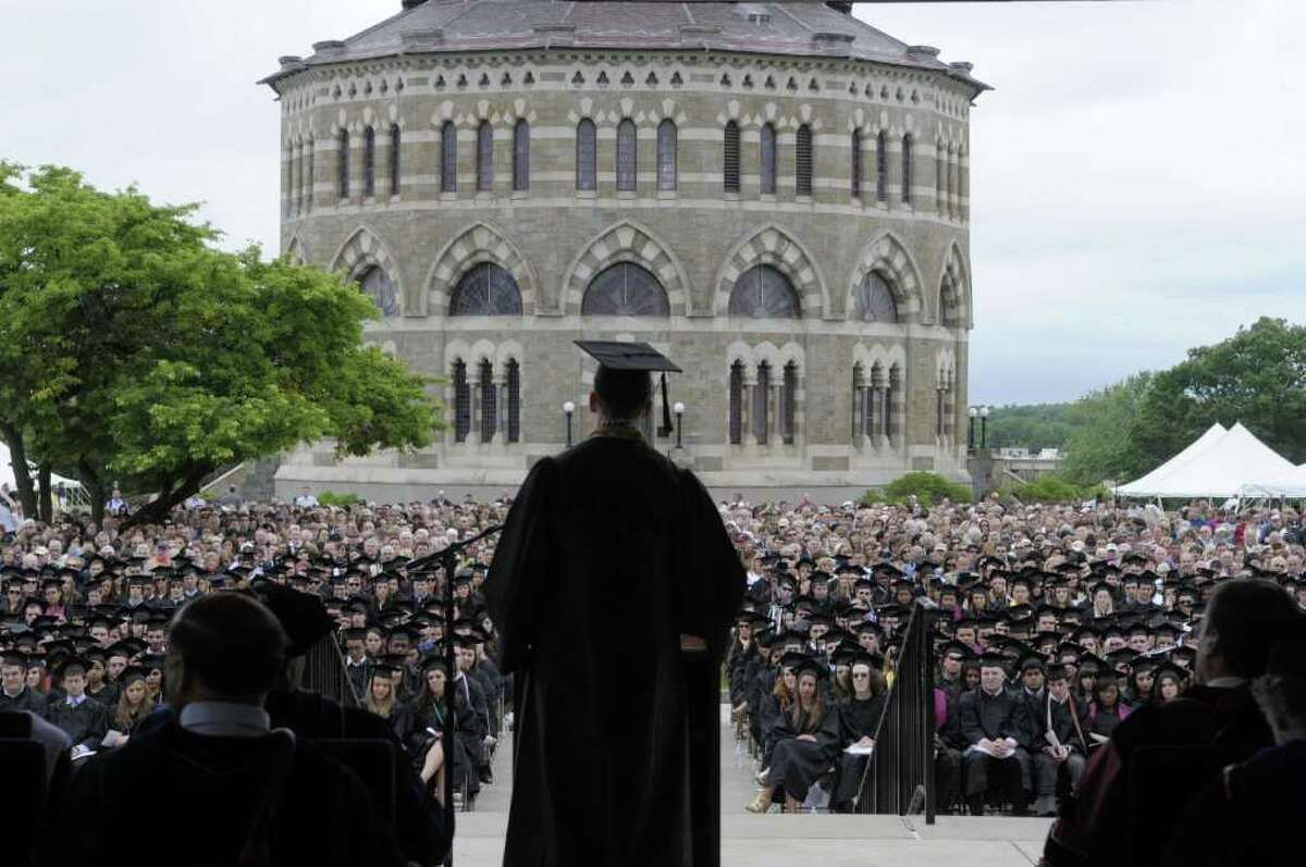 College commencement season has drawn celebrities and luminaries to the Capital Region over the years.