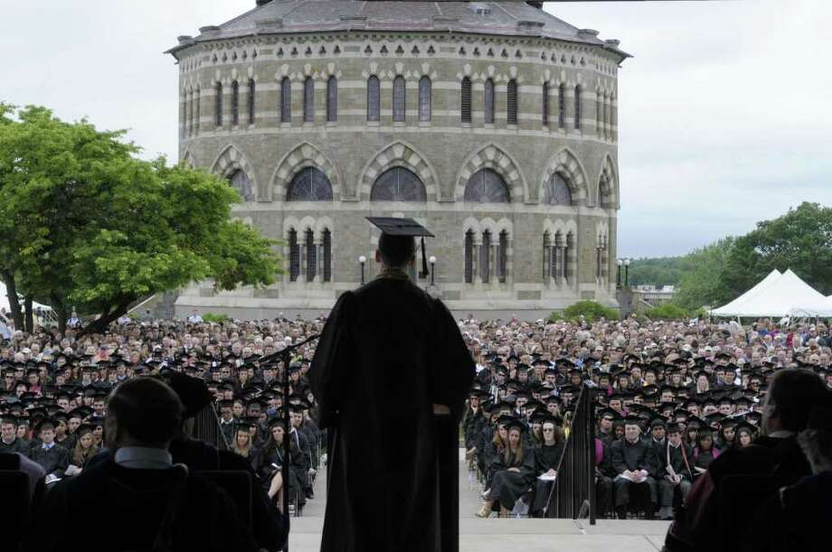 College commencement season has drawn celebrities and luminaries to the Capital Region over the years. Photo: Paul Buckowski  / 00012823A