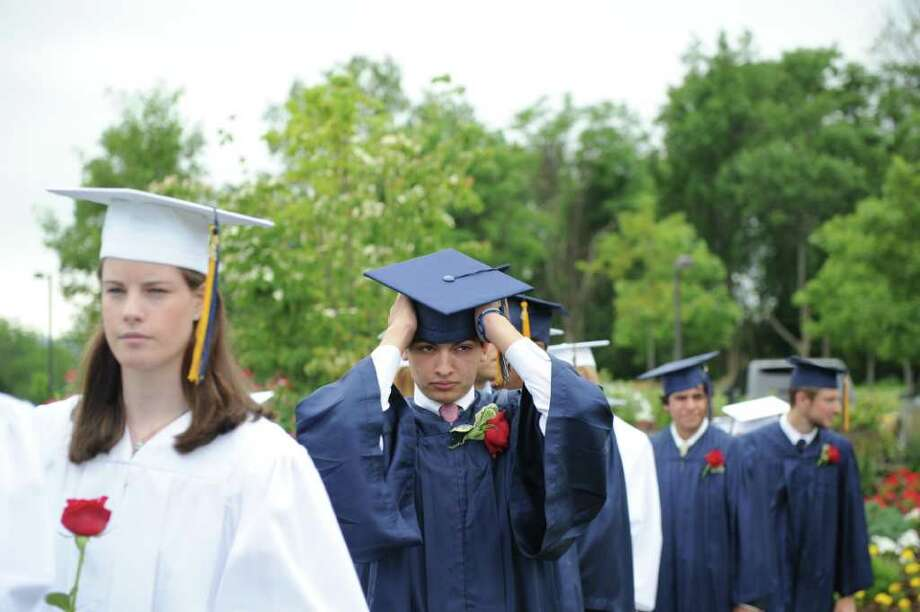 The King Low Heywood Thomas Class of 2011 graduation ceremony in Stamford, Conn., June 12, 2011. Retired New York Life Insurance Company President Fred Sievert gave the commencement address. Photo: Keelin Daly / Stamford Advocate
