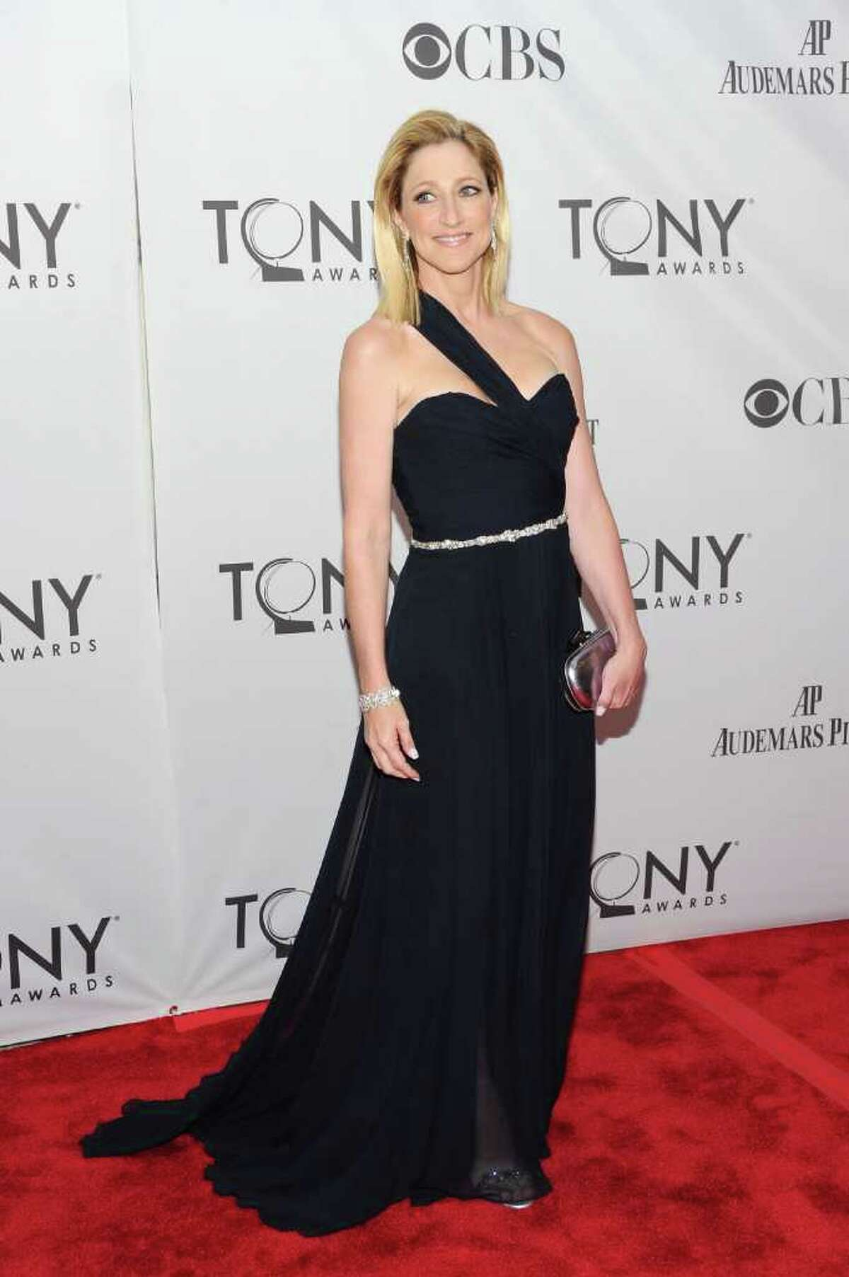 Edie Falco attends the 65th annual Tony Awards at the Beacon Theatre in New York on Sunday, June 12, 2011.
