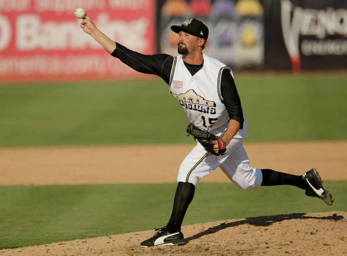 San Antonio Missions' Nick Vincent throws a pitch during a Texas league baseball game against the Corpus Christi Hooks, Sunday, June 12, 2011, in San Antonio. San Antonio won 6-4.