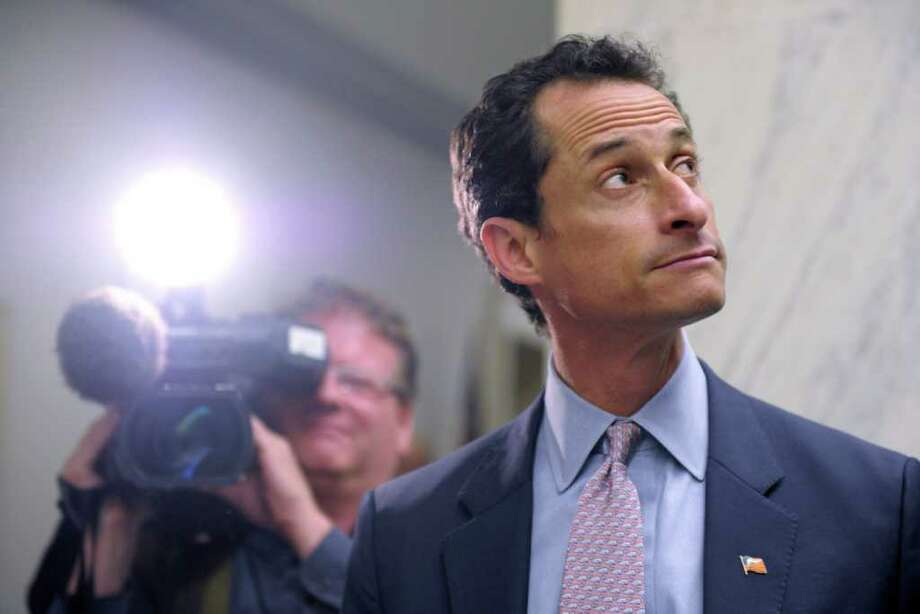 Rep. Anthony Weiner, D-N.Y., waits for an elevator near his office on Capitol Hill in Washington, Thursday, June 2, 2011. (AP Photo/Susan Walsh) Photo: Susan Walsh, STF / AP