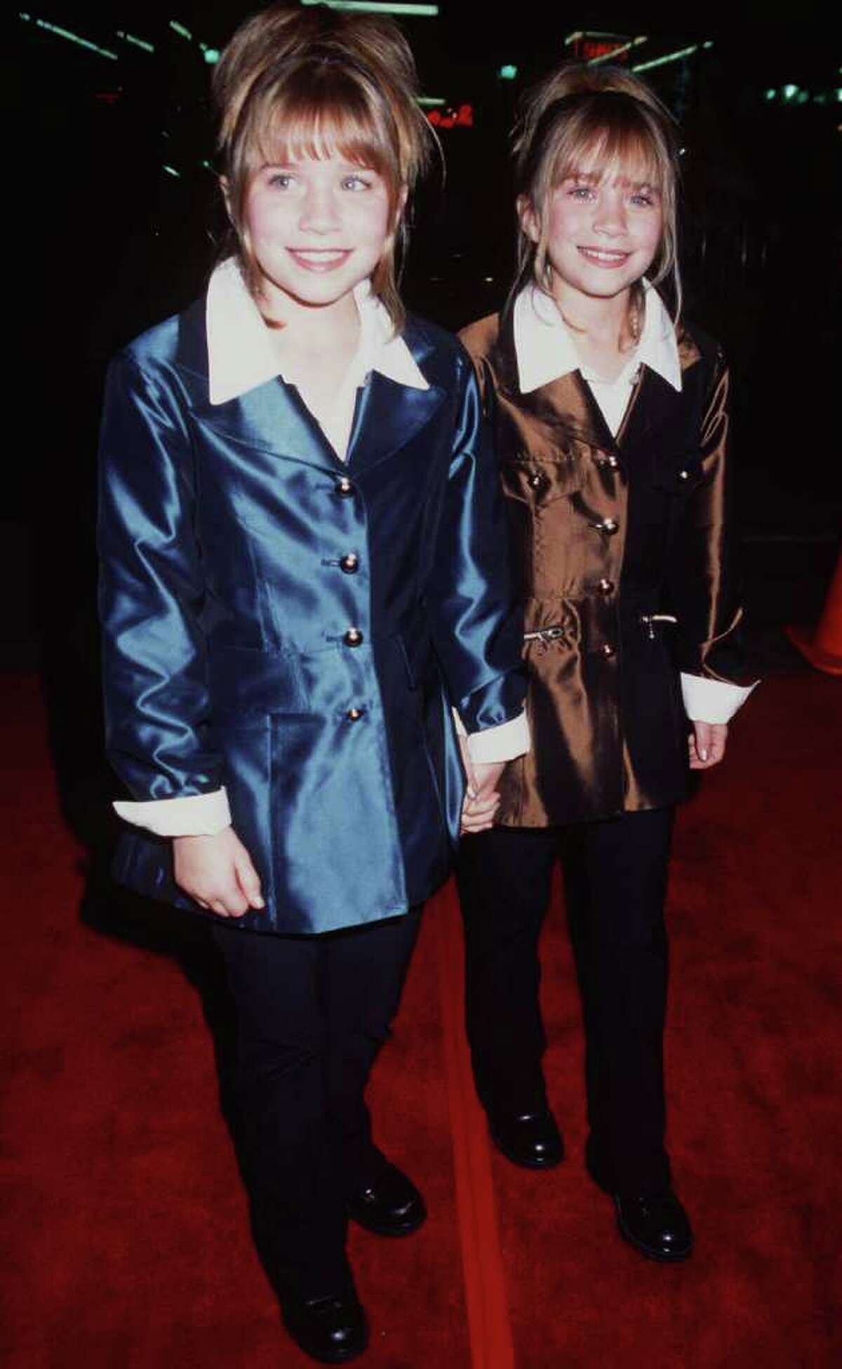 The Olsen twins at the premiere of
