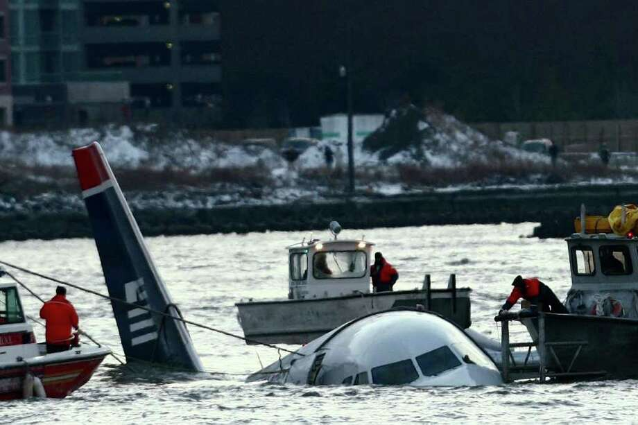 On Jan. 15, 2009, a flock of birds famously knocked out both engines of US Airways flight 1549, an Airbus A320, shortly after takeoff from New York's LaGuardia Airport. Photo: Chris McGrath, Getty Images / 2009 Getty Images
