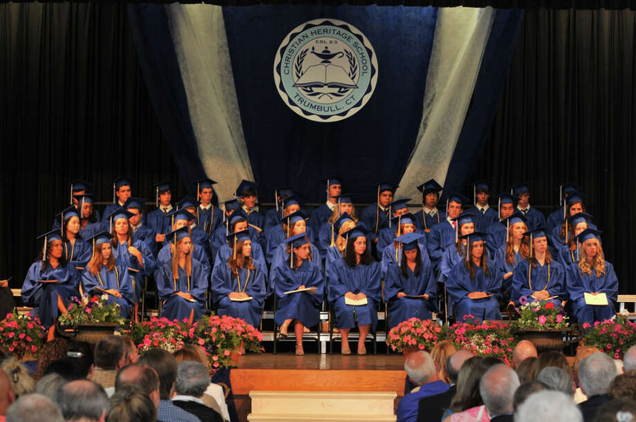 The 28th commencement exercises of Christian Heritage School in Trumbull.  Seniors graduated on Saturday afternoon, June 4. Photo: Contributed Photo / Connecticut Post Contributed