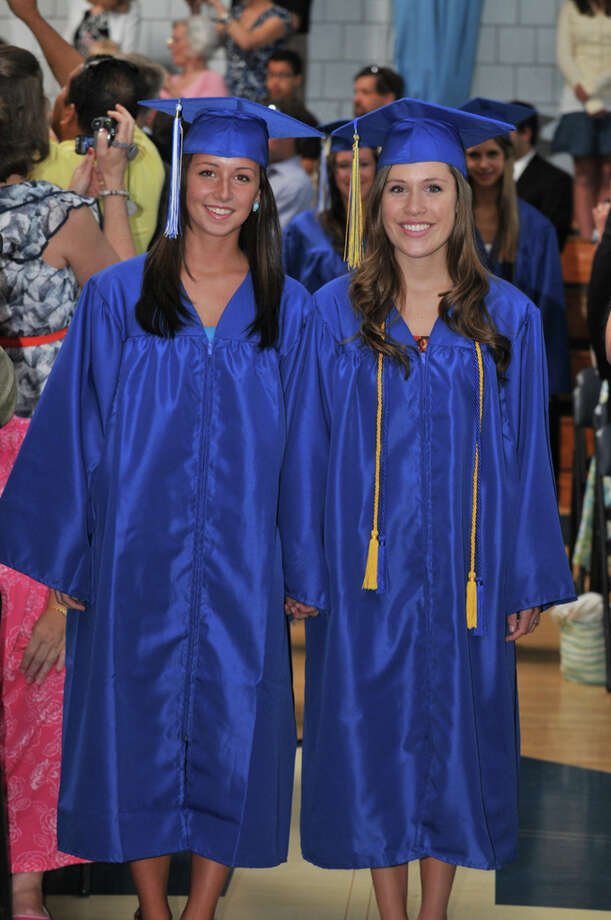 The 28th commencement exercises were held at Christian Heritage School on Saturday, June 4th, 2011.  Mary Broadbent and Claire Rudd Photo: Contributed Photo / Connecticut Post Contributed