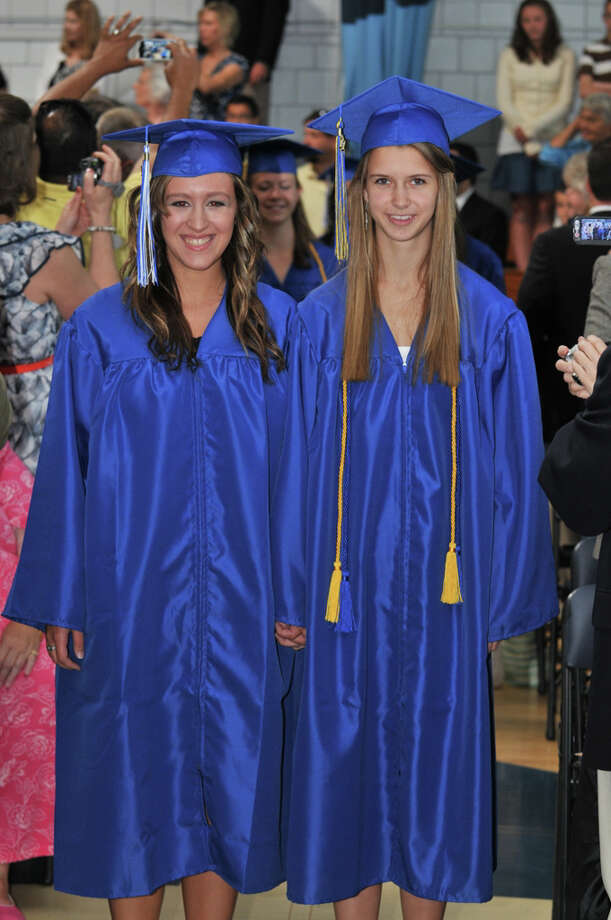 The 28th commencement exercises were held at Christian Heritage School on Saturday, June 4th, 2011.  Rachel Braccia and Lillian Terkelsen Photo: Contributed Photo / Connecticut Post Contributed