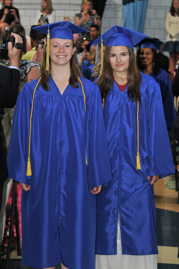 The 28th commencement exercises were held at Christian Heritage School on Saturday, June 4th, 2011.  Emily Stempien and Kameron Arnette Photo: Contributed Photo / Connecticut Post Contributed