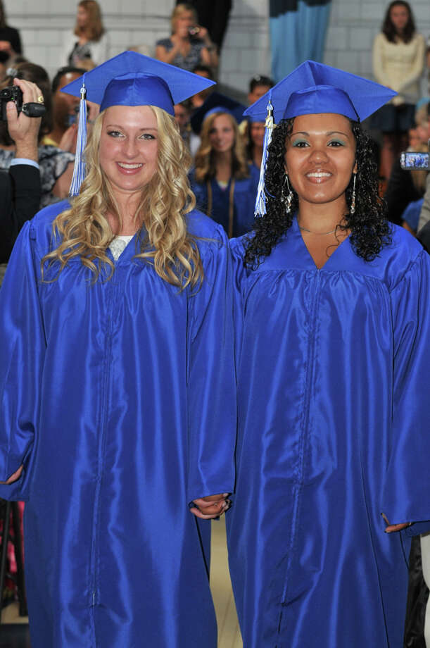 The 28th commencement exercises were held at Christian Heritage School on Saturday, June 4th, 2011.  Sarina Lydiksen and Clarissa Rosado Photo: Contributed Photo / Connecticut Post Contributed