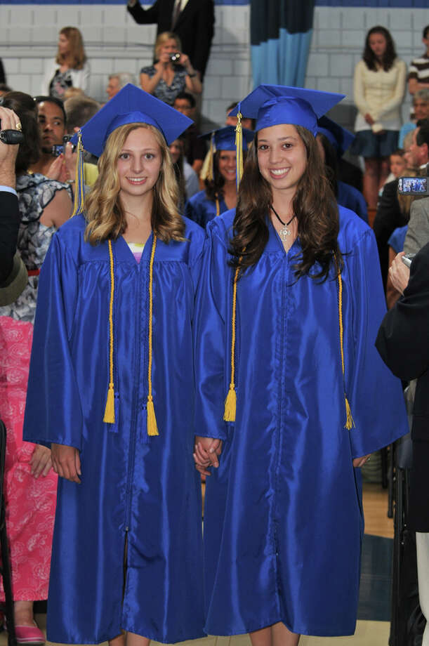 The 28th commencement exercises were held at Christian Heritage School on Saturday, June 4th, 2011.  Catherine Caporaso and Emily Boccarossa Photo: Contributed Photo / Connecticut Post Contributed