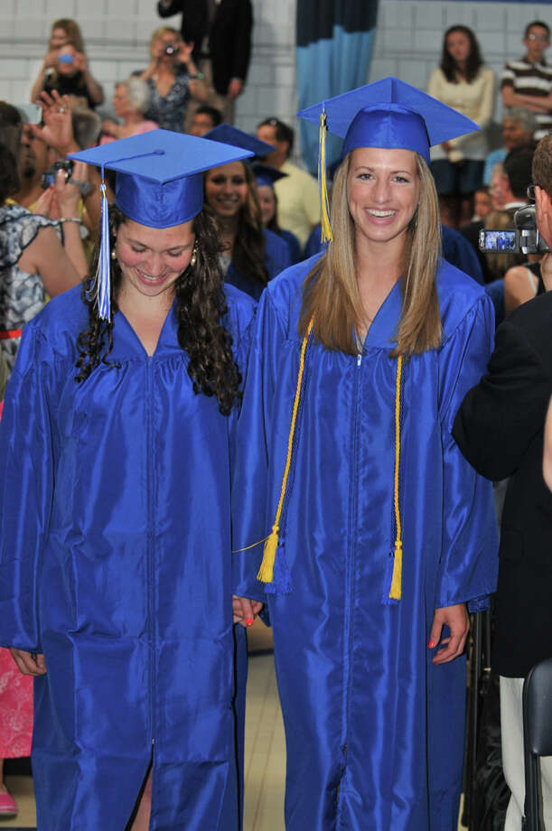 The 28th commencement exercises were held at Christian Heritage School on Saturday, June 4th, 2011.  Nicole Greer and Valyn Daconto Photo: Contributed Photo / Connecticut Post Contributed