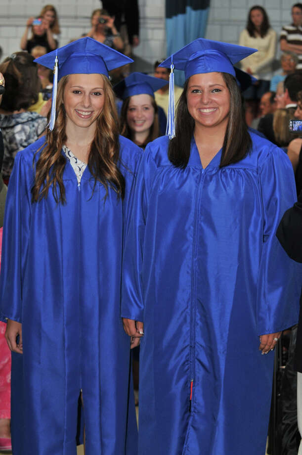 The 28th commencement exercises were held at Christian Heritage School on Saturday, June 4th, 2011.  Sarah Davis and Olivia Cichon Photo: Contributed Photo / Connecticut Post Contributed