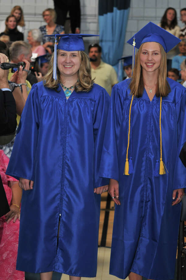 The 28th commencement exercises were held at Christian Heritage School on Saturday, June 4th, 2011.  Layna Gatling and Hannah Eckart Photo: Contributed Photo / Connecticut Post Contributed