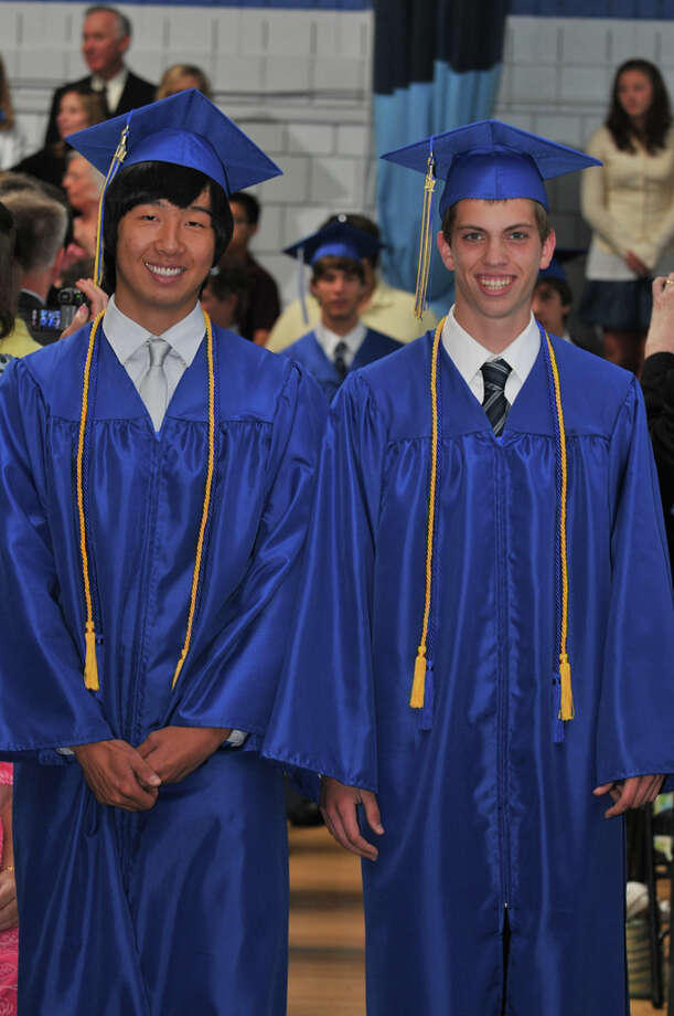"The 28th commencement exercises were held at Christian Heritage School on Saturday, June 4th, 2011.  Chang Hyun ""Will"" Lee and Nathan Brake Photo: Contributed Photo / Connecticut Post Contributed"