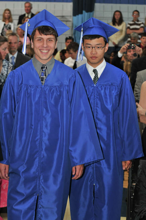 "The 28th commencement exercises were held at Christian Heritage School on Saturday, June 4th, 2011.  Gregory Jimmie and Chan Hyun ""David"" Park Photo: Contributed Photo / Connecticut Post Contributed"