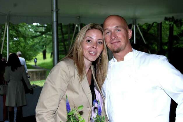 Chef Brian Lewis with his wife Dana Power Lewis. Photo: Jeanna Petersen Shepard / New Canaan News