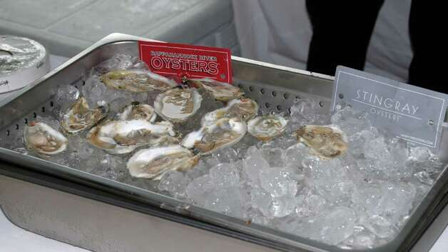 Oyster lovers were claiming these from Rappahannock River Oysters the best. Photo: Jeanna Petersen Shepard / New Canaan News