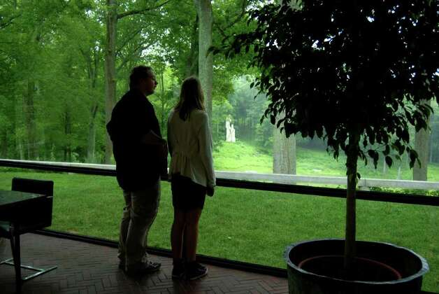 Inside The Glass House. Photo: Jeanna Petersen Shepard / New Canaan News