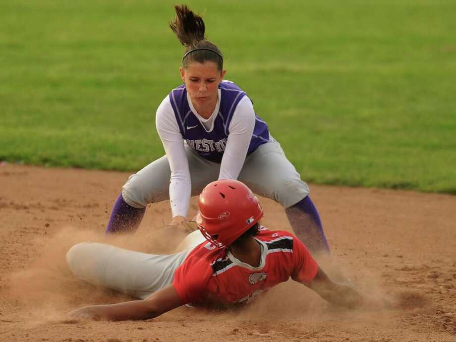 Westhill vs. Conard in the Class LL softball state championship game at West Haven High School on Monday, June 13, 2011. Photo: Brian A. Pounds / Connecticut Post