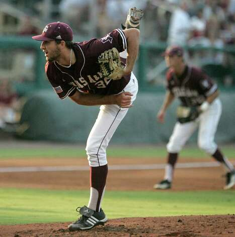 Texas A&M's Michael Wacha pitches against Florida State in the second inning of the teams' Super Regional game on Monday, June 13, 2011, in Tallahassee, Fla. Photo: Steve Cannon/Associated Press