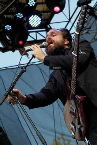 Samuel Beam of Iron and Wine performs during the Bonnaroo Music and Arts Festival in Manchester, Tenn., Sunday, June 12, 2011. Photo: AP