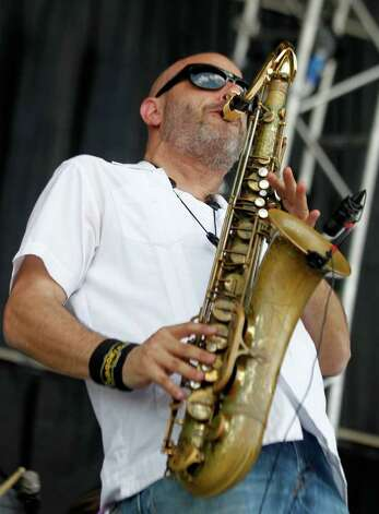 Ben Ellman of Galactic performs during the Bonnaroo Music and Arts Festival in Manchester, Tenn., Sunday, June 12, 2011. Photo: AP