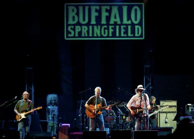 Buffalo Springfield performs during the Bonnaroo Music and Arts Festival in Manchester, Tenn. on Saturday, June 11, 2011. From left are Stephen Stills, Richie Furay and Neil Young. Photo: AP