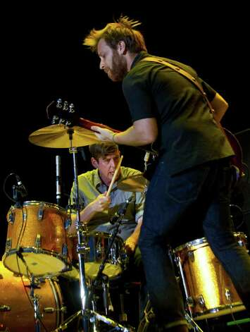 The Black Keys performs during the Bonnaroo Music and Arts Festival in Manchester, Tenn. on Saturday, June 11, 2011. At right is Dan Auerbach and at left is Patrick Carney. Photo: AP