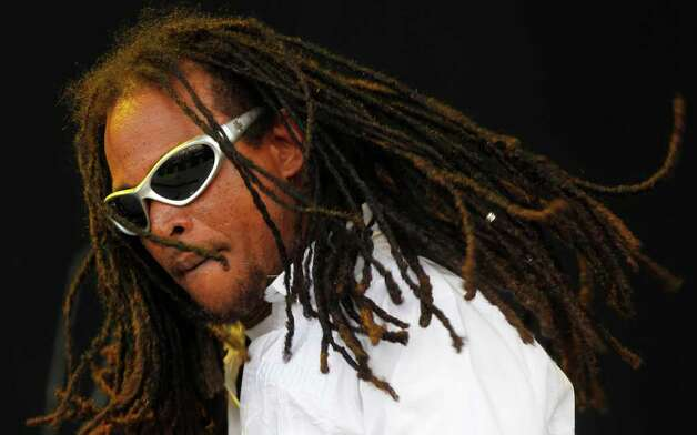 Andrew Bees of Black Uhuru performs during the Bonnaroo Music and Arts Festival in Manchester, Tenn., Saturday, June 11, 2011. Photo: AP