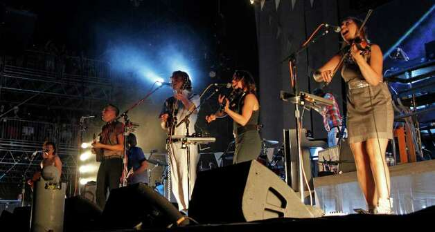 Arcade Fire performs during the Bonnaroo Music Festival in Manchester, Tenn., Friday, June 10, 2011. Photo: AP