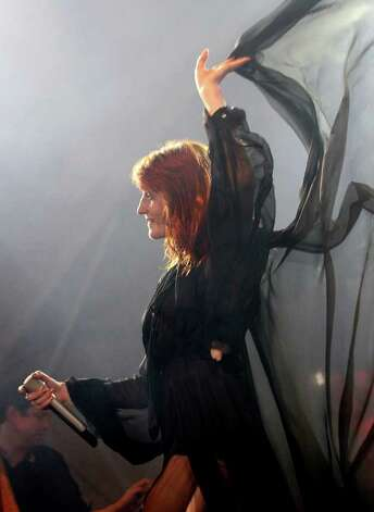 Florence Welch of Florence and the Machine performs during the Bonnaroo Music Festival in Manchester, Tenn., Friday, June 10, 2011. Photo: AP