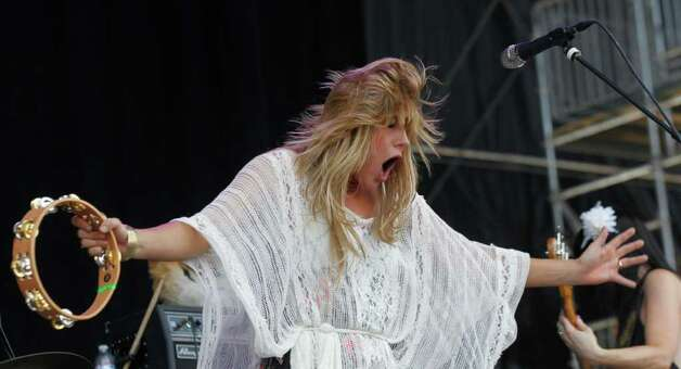 Grace Potter of Grace Potter and the Nocturnals performs during the Bonnaroo Music Festival in Manchester, Tenn., Friday, June 10, 2011. Photo: AP