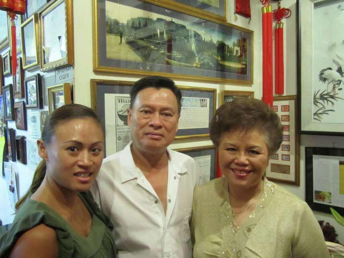 Charlin, Hsiu and John Yu from Hsiu Yu restaurant (Express-News file photo)