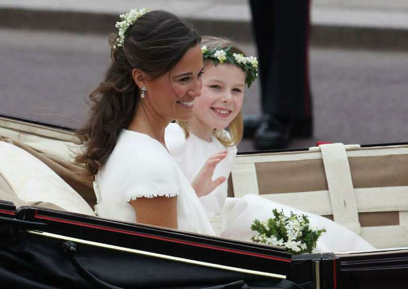 LONDON, ENGLAND - APRIL 29:  Sister of the Bride and Maid of Honour Pippa Middleton and bridesmaid M