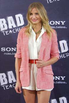 "MADRID, SPAIN - JUNE 13:  Actress Cameron Diaz attends ""Bad Teacher"" Madrid photocall at Hotel Villamagna on June 13, 2011 in Madrid, Spain. Photo: Carlos Alvarez, Getty Images / 2011 Getty Images"